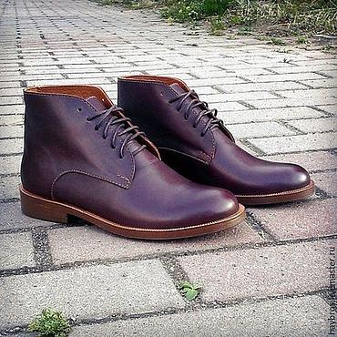 Обувь ручной работы. Ярмарка Мастеров - ручная работа Женские кожаные ботинки. Handmade.