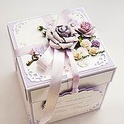 Свадебный салон ручной работы. Ярмарка Мастеров - ручная работа Коробочка для денег Magic Box лавандовая. Handmade.