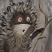 """Одежда ручной работы. Ярмарка Мастеров - ручная работа Футболки """"Ёжик в тумане с одуванчиком"""". Handmade."""