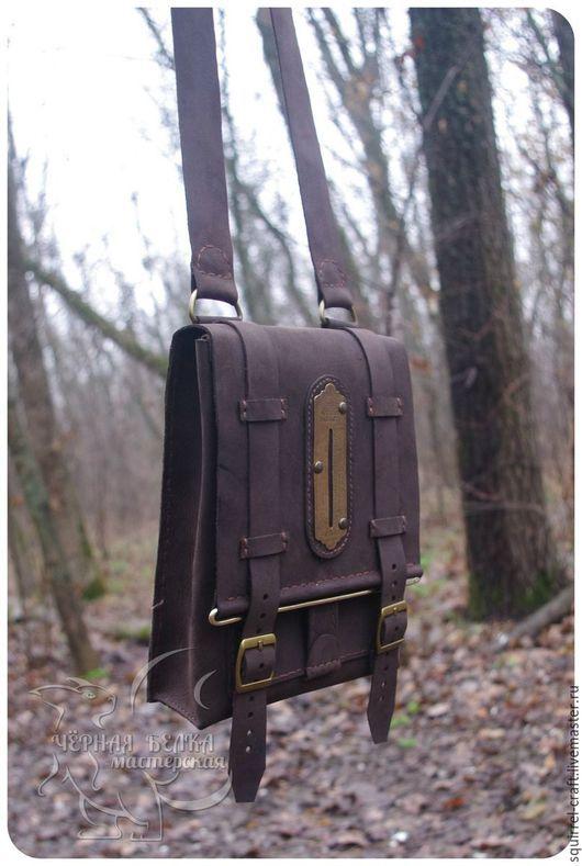 Мужские сумки ручной работы. Ярмарка Мастеров - ручная работа. Купить Сумка-планшет. Handmade. Коричневый, steampunk, стильная сумка