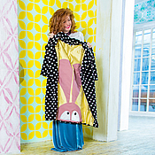 Одежда ручной работы. Ярмарка Мастеров - ручная работа Кашемировое пальто с аппликацией. Handmade.