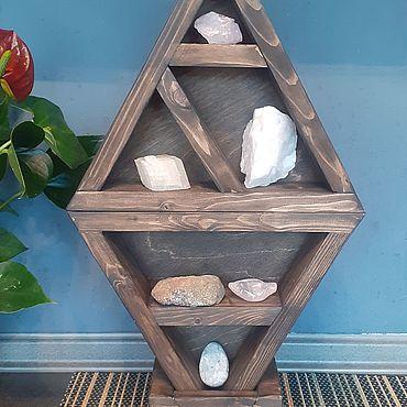 Феншуй ручной работы. Ярмарка Мастеров - ручная работа Полка с кристаллами для медитаций. Handmade.