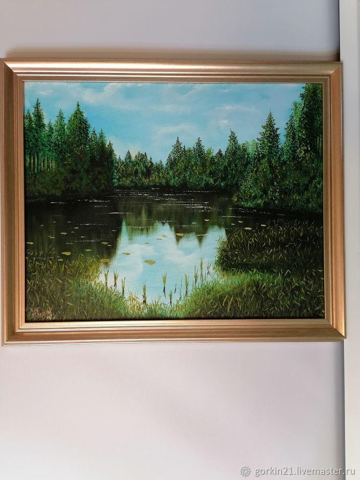 Лесное озеро, Картины, Железнодорожный,  Фото №1