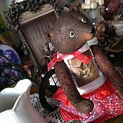 Куклы и игрушки ручной работы. Ярмарка Мастеров - ручная работа Мишенька девочковая). Handmade.