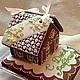 """Пряничный домик """"Прованс"""" - это море, круассаны ранним утром, хрустящий багет, сыр, молодое вино... Вы во Франции. Пряничный домик украшен цветочками в пастельных тонах."""