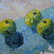 Картины и панно ручной работы. Ярмарка Мастеров - ручная работа Зеленые яблоки. Handmade.