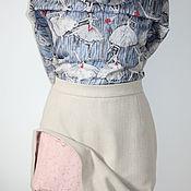 Одежда ручной работы. Ярмарка Мастеров - ручная работа Юбка теплая из шерсти на подкладе. Handmade.