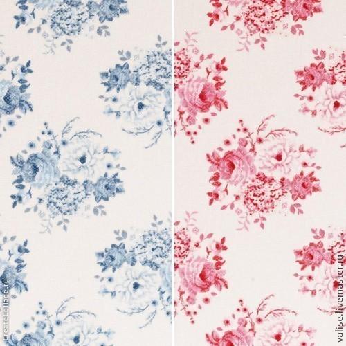 """Шитье ручной работы. Ярмарка Мастеров - ручная работа. Купить Ткань Тильда """"Mia"""",  pink/blue. Handmade. Васильковый, Тильда ткань"""
