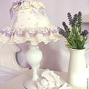 Для дома и интерьера handmade. Livemaster - original item Table lamp in lilac lace baby Shabby Chic style. Handmade.