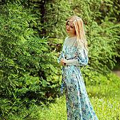 Одежда ручной работы. Ярмарка Мастеров - ручная работа Акция80%!Летнее длинное платье с цветочным принтом.. Handmade.