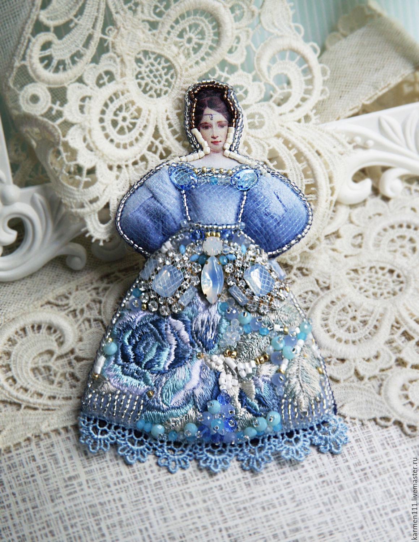 """Brooch handmade """"Natalia Goncharova, Pushkin"""", Brooches, Moscow,  Фото №1"""
