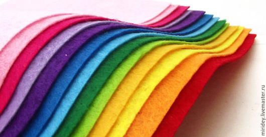 Валяние ручной работы. Ярмарка Мастеров - ручная работа. Купить Набор жесткого фетра 1мм (14 цветов) 15х20 см. Handmade.