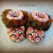 """Работы для детей, ручной работы. Ярмарка Мастеров - ручная работа Валяные пинетки-тапочки-игрушки """"Котята"""". Handmade."""