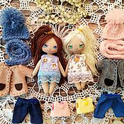 Куклы и игрушки handmade. Livemaster - original item Play doll,textile, with clothes.pocket, game sets. Handmade.