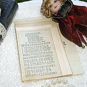Материалы для творчества ручной работы. Ярмарка Мастеров - ручная работа 22 листочка старо-немецким шрифтом. Handmade.