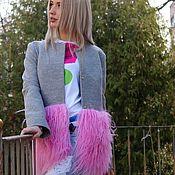 Одежда ручной работы. Ярмарка Мастеров - ручная работа Пальто с мехом ламы. Handmade.