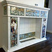 Для дома и интерьера handmade. Livemaster - original item Fireplace in the art Nouveau style. Handmade.
