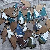 Подарки к праздникам ручной работы. Ярмарка Мастеров - ручная работа Молящиеся ангелы в разных костюмчиках. Handmade.