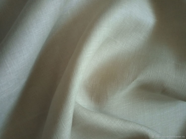 Ткань: Лен шириной 220 см Бежевый, Ткань для цветов, Тамбов, Фото №1