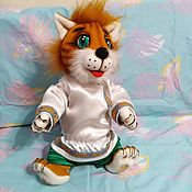 Куклы и игрушки handmade. Livemaster - original item Cat. Theatrical tablet doll for a performance.. Handmade.