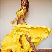 """Одежда ручной работы. Ярмарка Мастеров - ручная работа Костюм для танца живота """"Лимонный фреш"""". Handmade."""