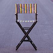 Для дома и интерьера handmade. Livemaster - original item Director`s chair oak - black & strips. Handmade.