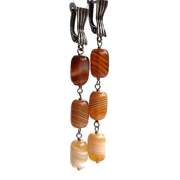 Decorations handmade. Livemaster - original item Earrings with yellow agate. Earrings with stones. Handmade.