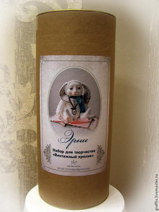 """Куклы и игрушки ручной работы. Ярмарка Мастеров - ручная работа. Купить Набор для творчества """"Винтажный кролик"""" (22 см). Handmade."""