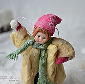 Подарки к праздникам ручной работы. Ярмарка Мастеров - ручная работа Ватная елочная игрушка СЕРЕЖКА. Handmade.