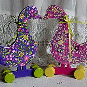 Подарки к праздникам ручной работы. Ярмарка Мастеров - ручная работа Два веселых гуся. Handmade.