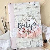 Канцелярские товары ручной работы. Ярмарка Мастеров - ручная работа Мамин дневник (для девочки). Handmade.