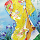 Заказать ЯПОНКА, Картина на шелке, картина с девушкой. Светлана Логинова. Ярмарка Мастеров. . Картины Фото №3