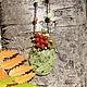 """Кулоны, подвески ручной работы. Кулон """"Плоды земные"""" с сердоликом и змеевиком. Украшения iolita (Юлия Крамарева). Ярмарка Мастеров. Листья"""
