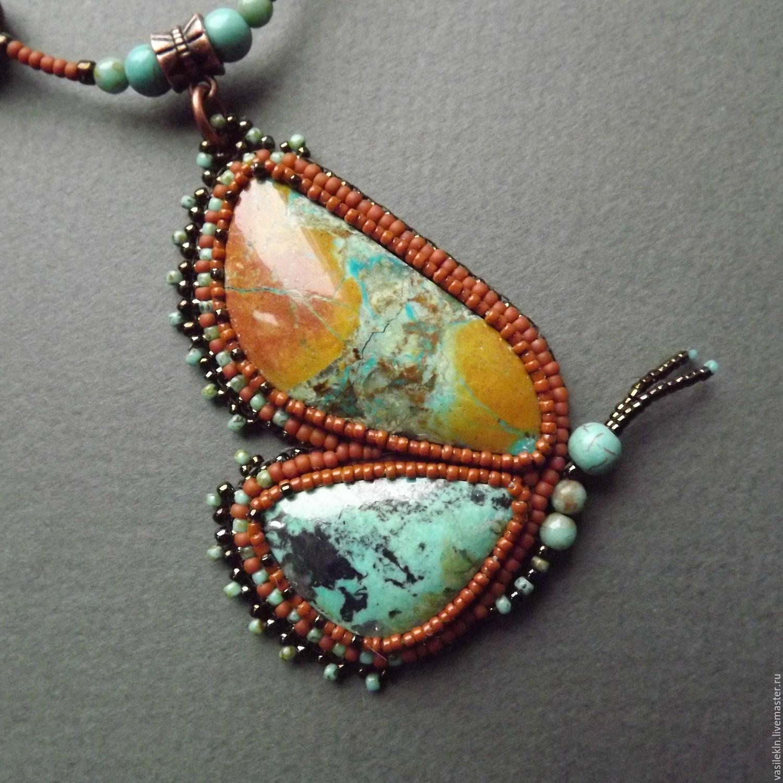 Готовые украшения из бисера и натурального камня
