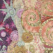 Картины и панно ручной работы. Ярмарка Мастеров - ручная работа Лоскутное панно Розовый жемчуг. Handmade.