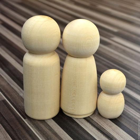 Куклы и игрушки ручной работы. Ярмарка Мастеров - ручная работа. Купить Заготовки деревянные куклы для росписи Набор из 3х шт.. Handmade.