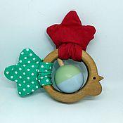 Куклы и игрушки handmade. Livemaster - original item Wooden rattle teething toy Cock Petrushka. Handmade.