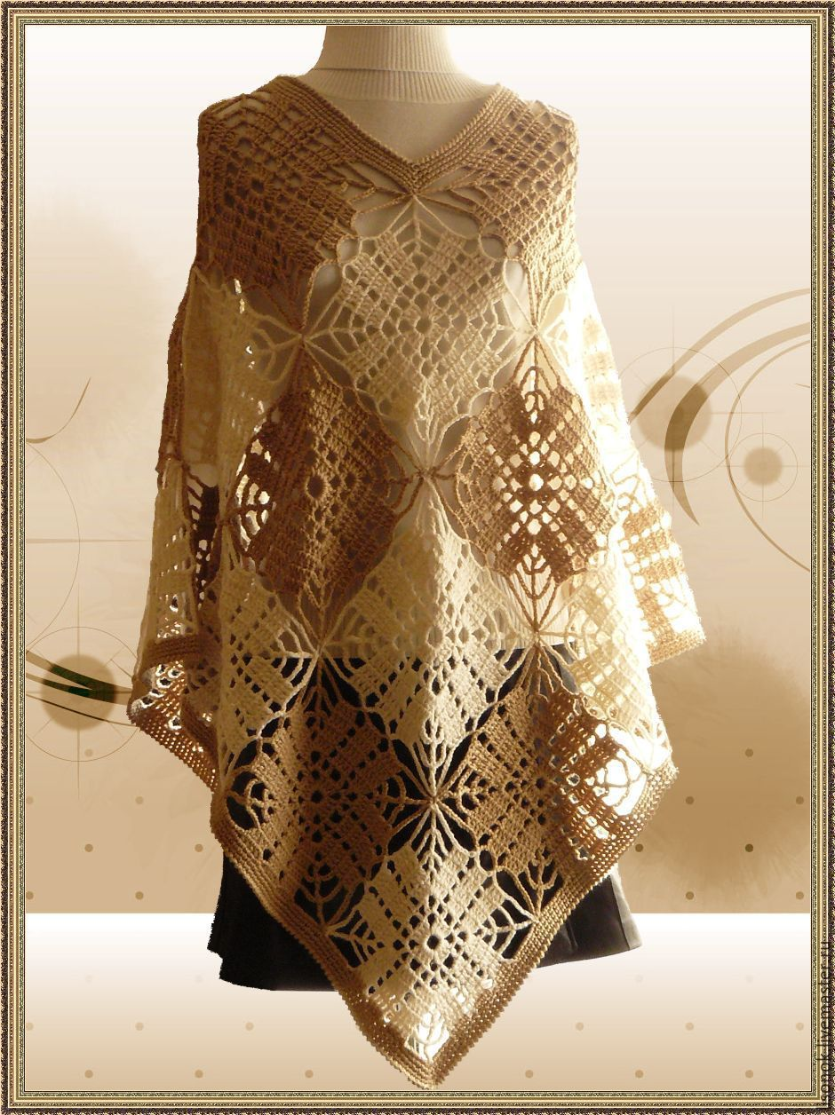 Poncho Crochet Spider Shop Online On Livemaster With Shipping