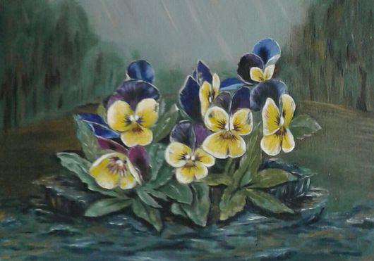 Картины цветов ручной работы. Ярмарка Мастеров - ручная работа. Купить После дождя.. Handmade. Лето, масло