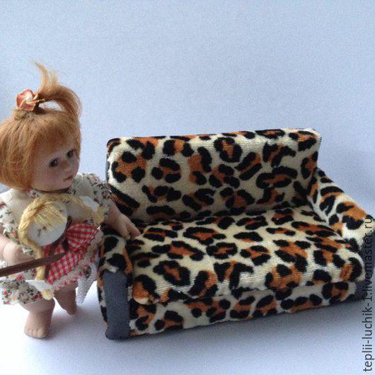 Кукольный дом ручной работы. Ярмарка Мастеров - ручная работа. Купить Мягкая мебель. Handmade. Коричневый, мягкая мебель