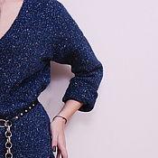 Одежда handmade. Livemaster - original item Jumper tweed Starry night. Handmade.