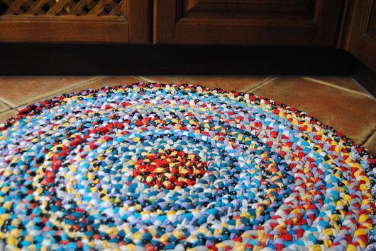 Текстиль, ковры ручной работы. Ярмарка Мастеров - ручная работа. Купить Коврик Все краски лета. Handmade. Коврик, трикотаж