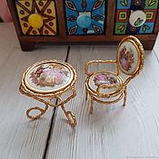 Винтаж handmade. Livemaster - original item Limoges porcelain and furniture to dolls, France, vintage. Handmade.