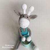 Куклы и игрушки ручной работы. Ярмарка Мастеров - ручная работа Жирафик в штанишках. Handmade.