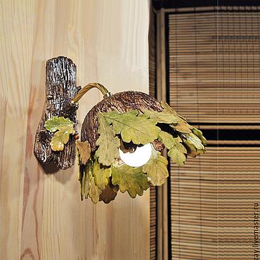 Для дома и интерьера ручной работы. Ярмарка Мастеров - ручная работа Осенний дуб - бра для веранды. Handmade.