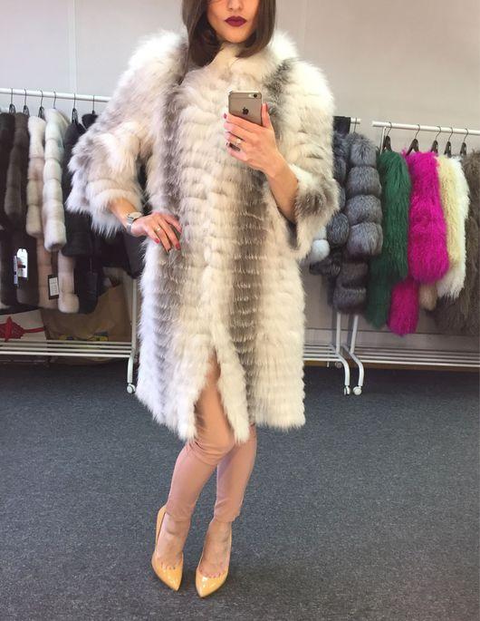 Верхняя одежда ручной работы. Ярмарка Мастеров - ручная работа. Купить Пальто из арктической лисы. Handmade. Пальто, шубка