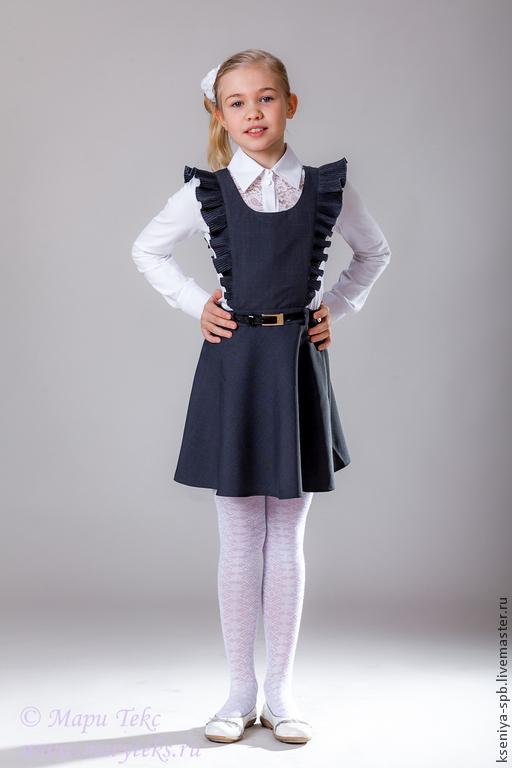 Одежда для девочек, ручной работы. Ярмарка Мастеров - ручная работа. Купить Одежда для школы - школьный сарафан - юбка. Handmade.