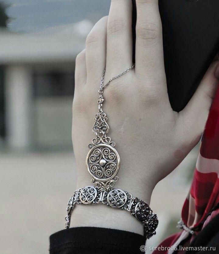 """Браслет """"МАНИЯ ВОСТОКА"""" слейв-браслет серебро 925 пр, Браслет плетеный, Назрань,  Фото №1"""