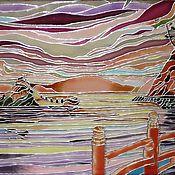 Картины и панно ручной работы. Ярмарка Мастеров - ручная работа Картина на стекле в японском стиле. Handmade.