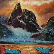 Картины и панно ручной работы. Ярмарка Мастеров - ручная работа Картина маслом мистические горы. Handmade.